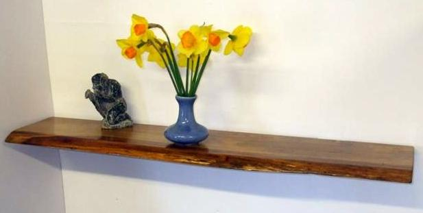 Rustic English Oak Floating Shelf
