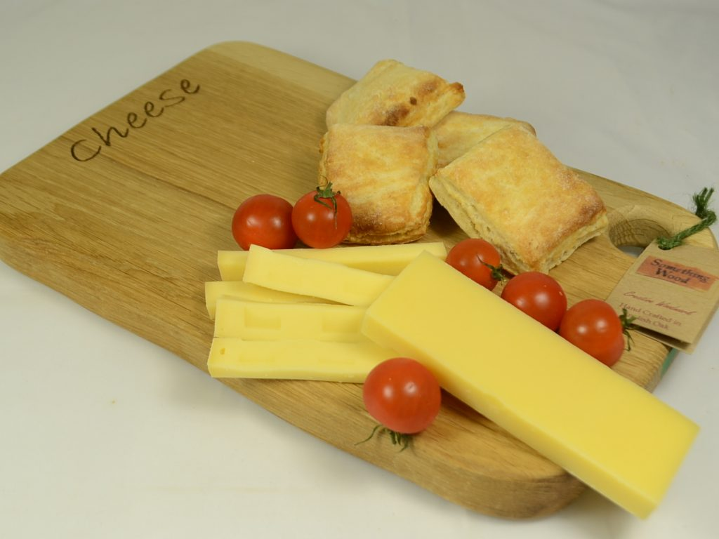 Light Oak Cheese Platter