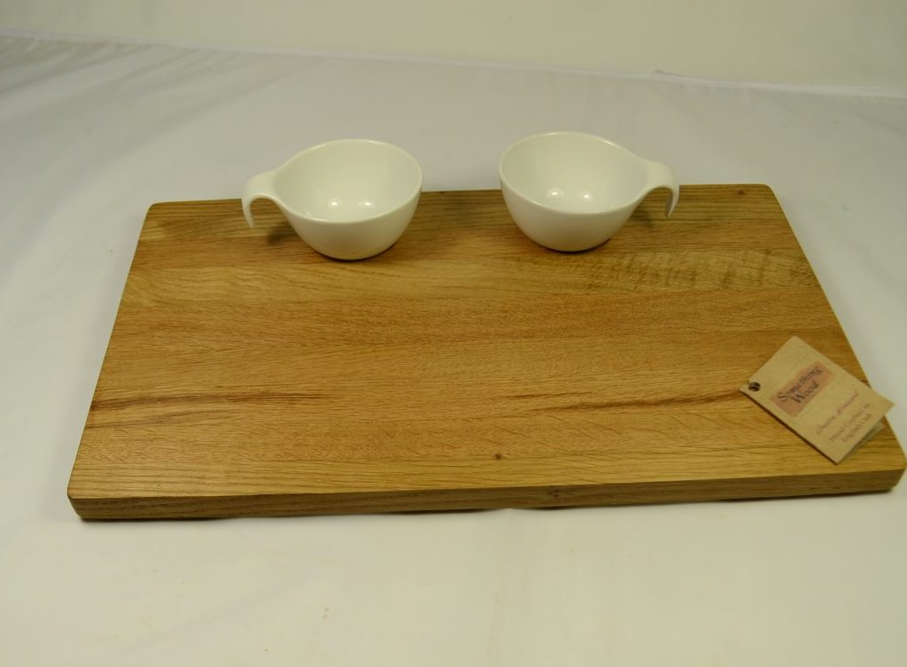 Oak Crudités Platter including Bowls