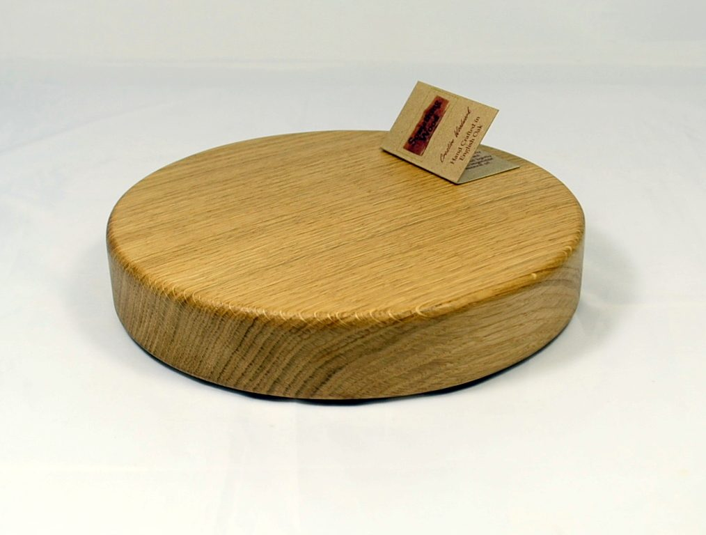 Small Round Oak Cheese Board