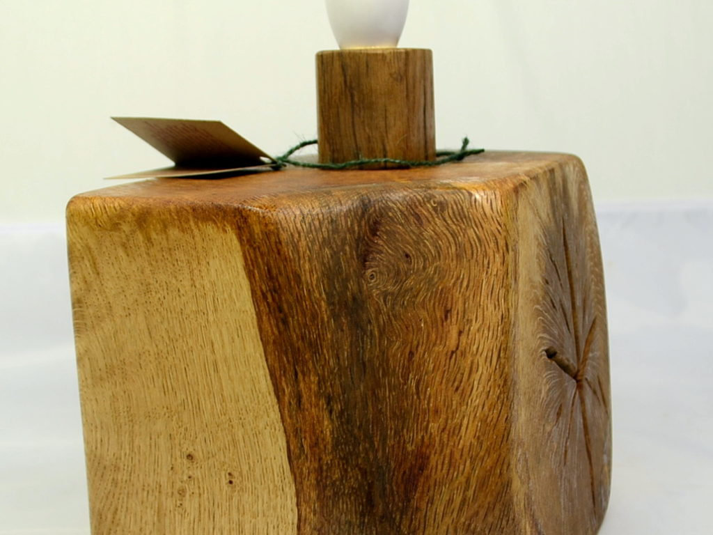 Oak table lamp archives something wood rustic oak table lamp base geotapseo Images