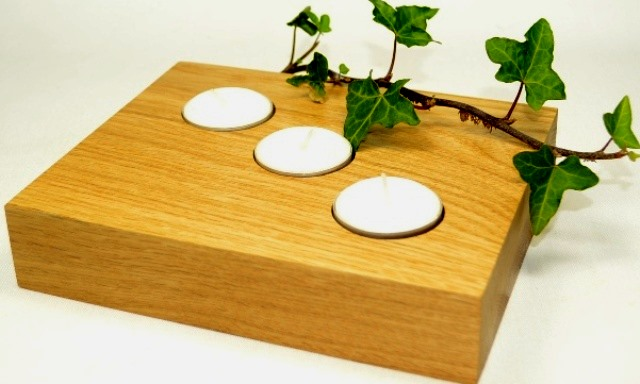 Oak Tea Light Holder