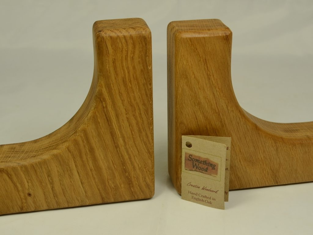 Solid Oak Book Ends