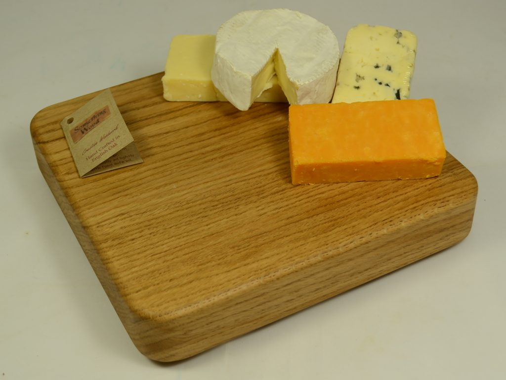 Square Chunky Oak Cheese Board