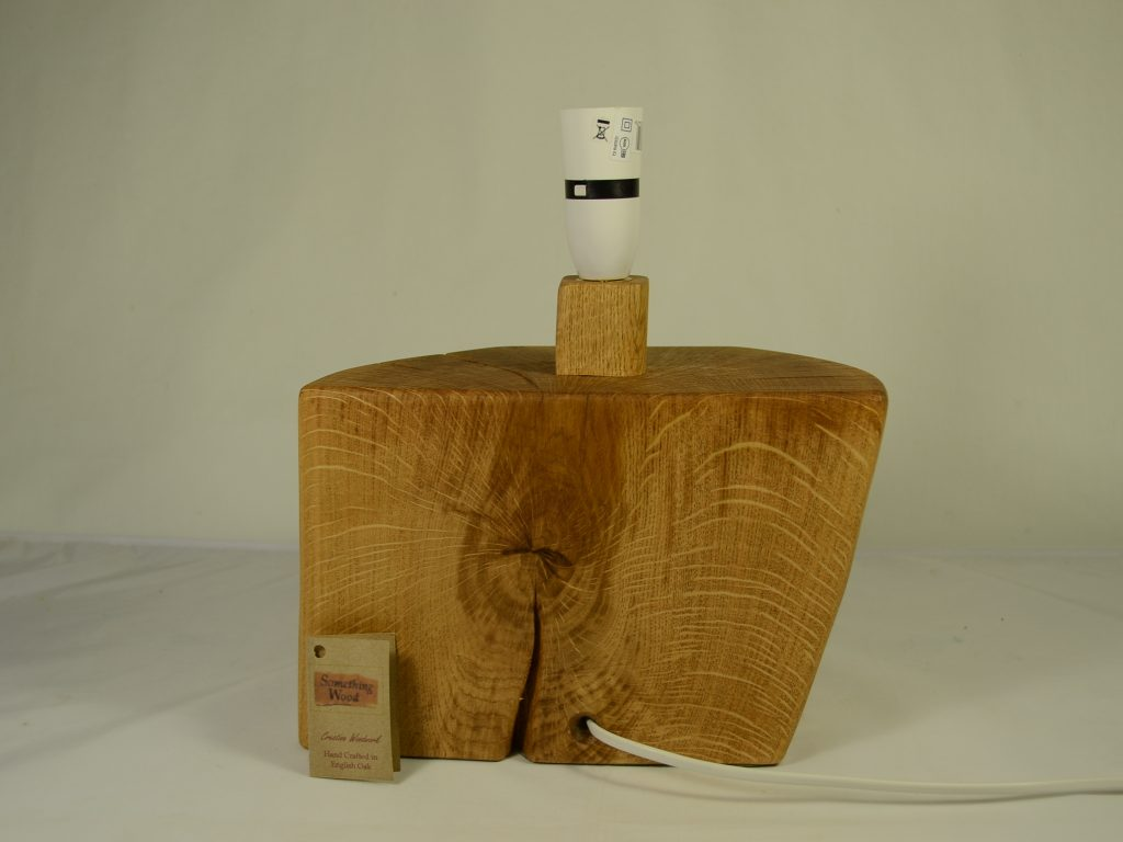 English Oak Lamp Base