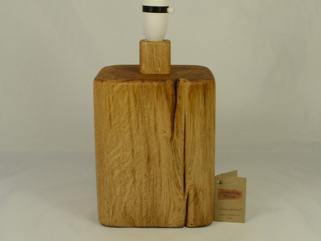 Solid Wood Lamp Base in English Oak