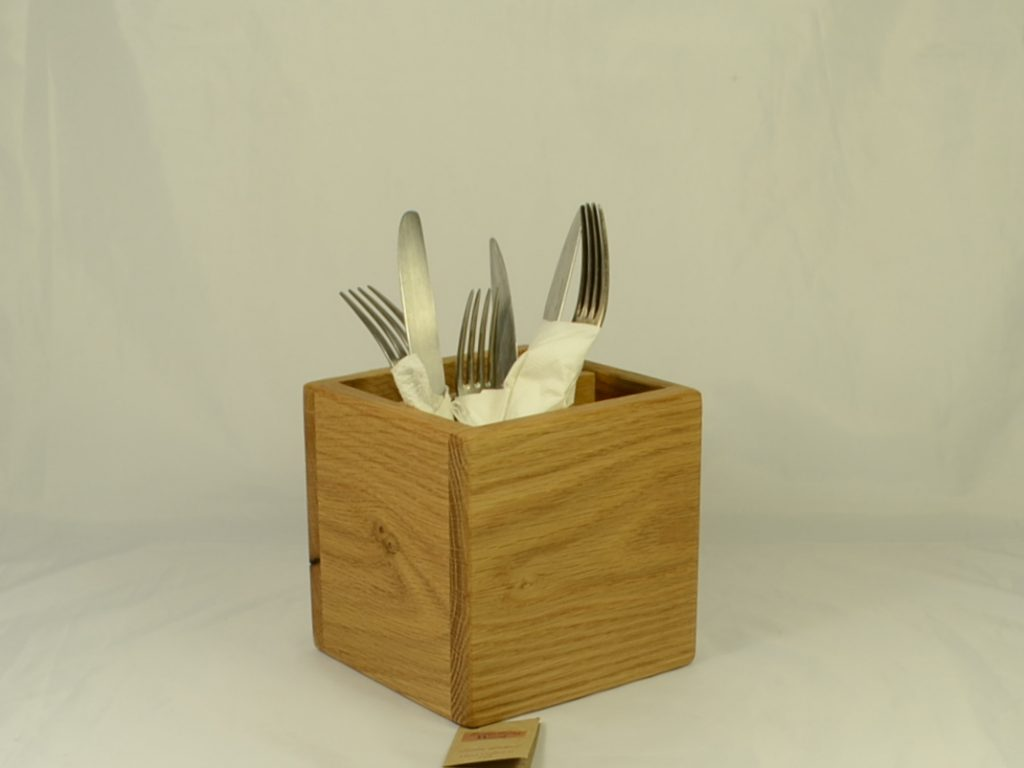 Oak Cutlery Holder