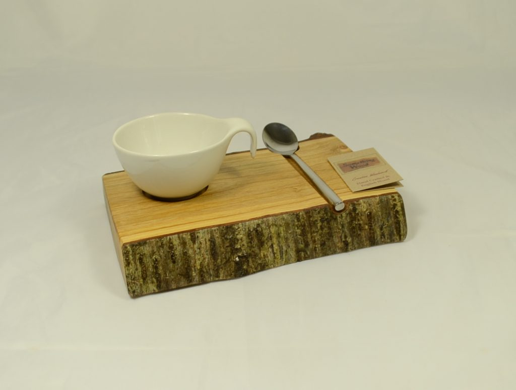 Cherry Wood Condiment Server