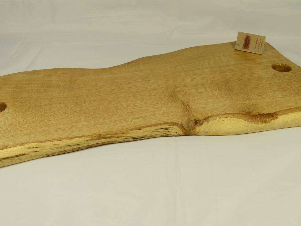 Unique Shaped Oak Serving Platter