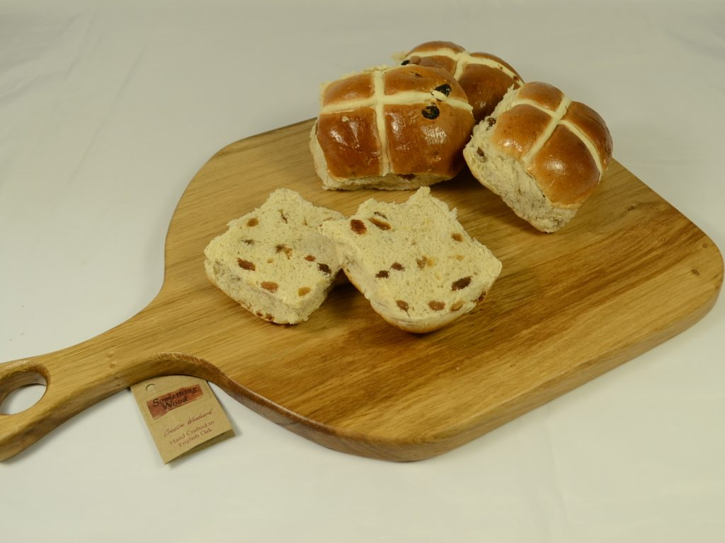 English Oak Bread Board with Handle