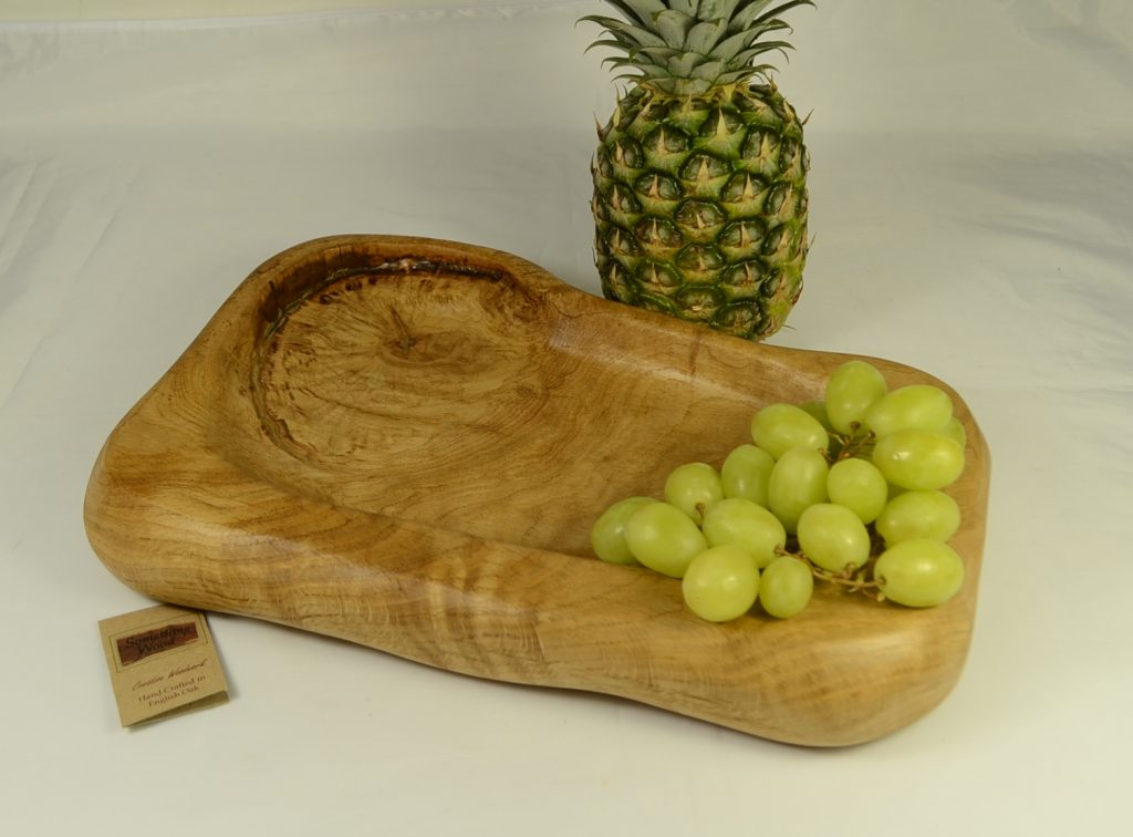 Rustic English Oak Hand Carved Bowl