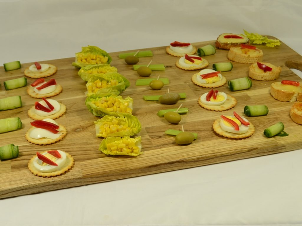 Large Oak Canape Tray