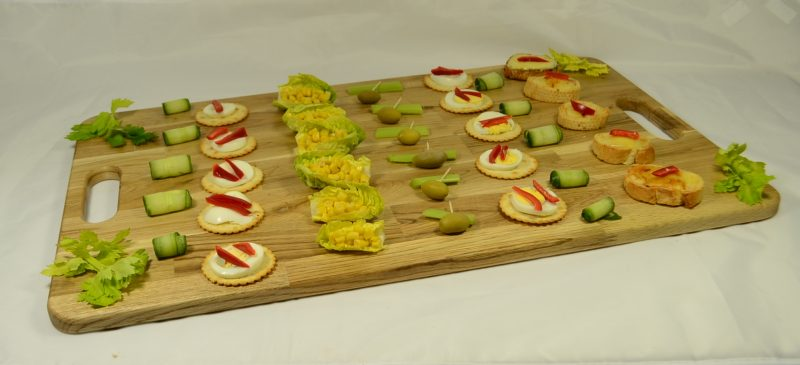 Canape Board with canapes