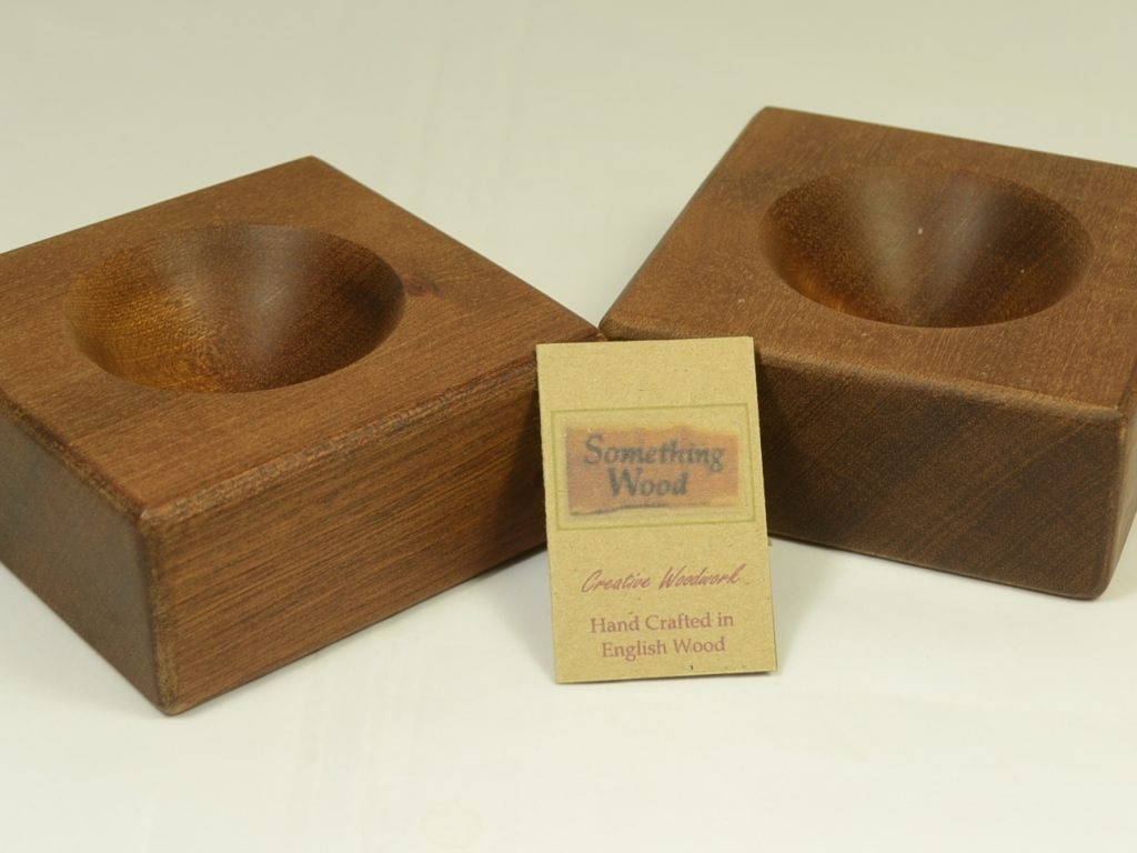 Sapele Salt and Pepper Pinch Bowls