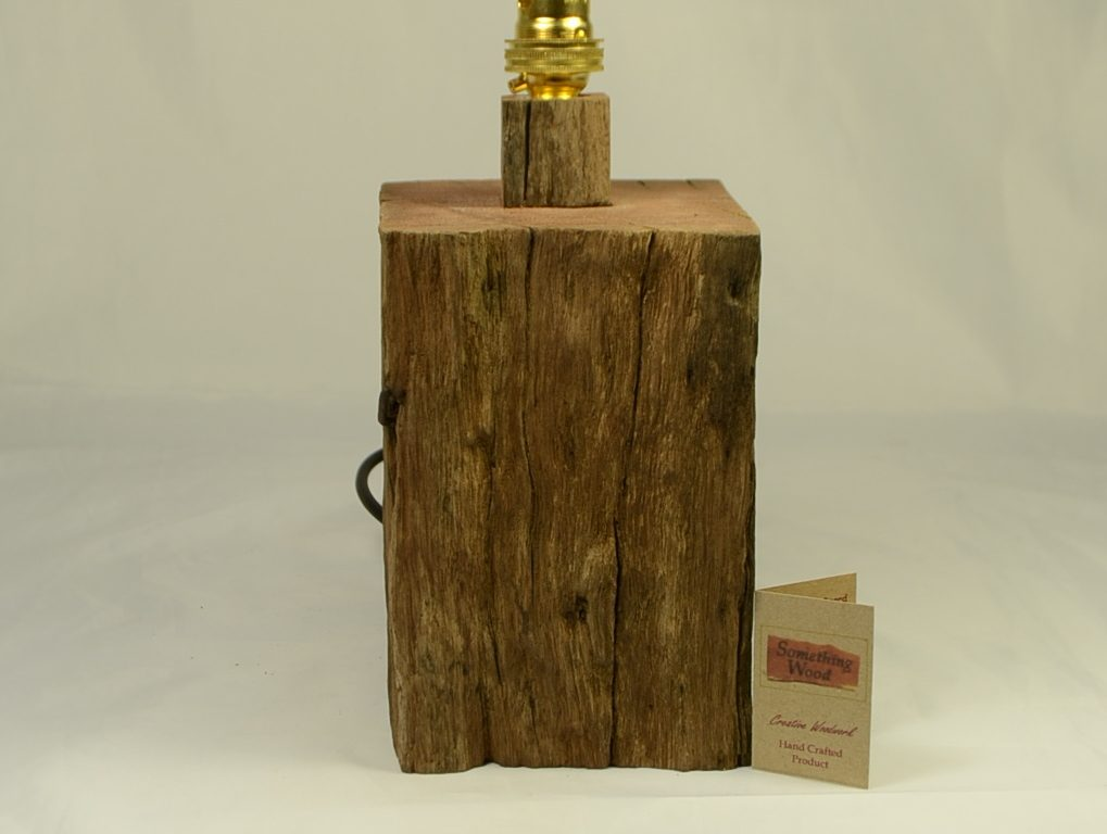 Rustic Hardwood Table Lamp