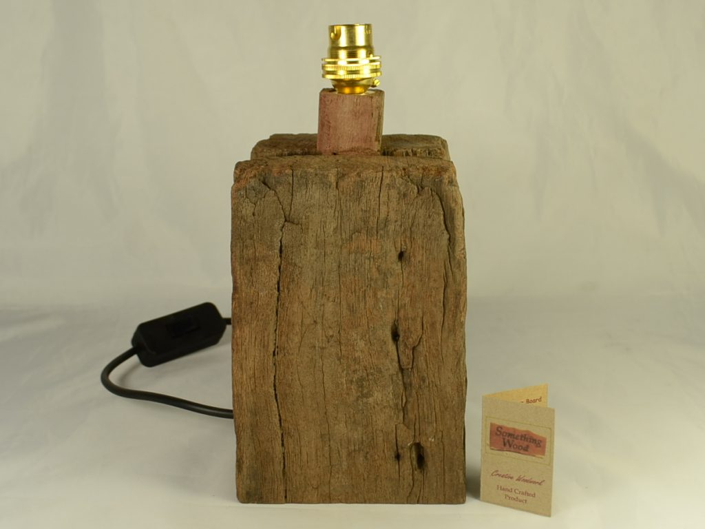 Cottage Style Hardwood Table Lamp