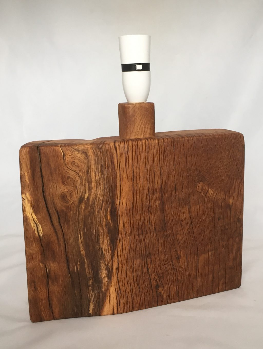 Organic Solid Oak Table Lamp