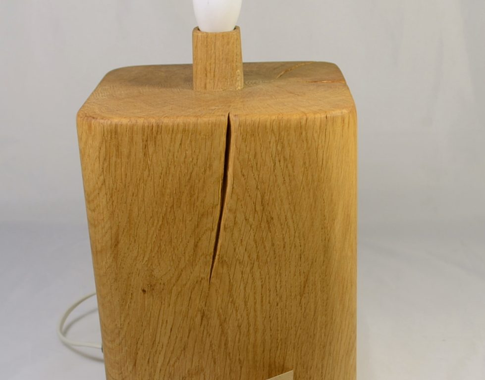 Large English Oak Lamp Base