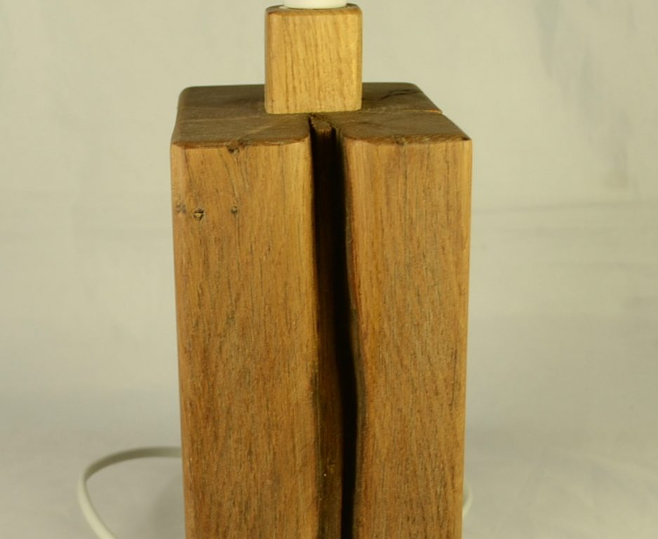 Rustic Oak Table Lamp Base