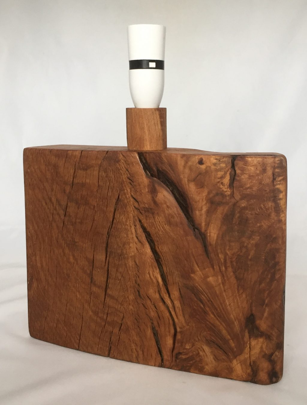 Solid English Oak Table Lamp
