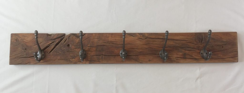 Rustic Oak Coat Rack
