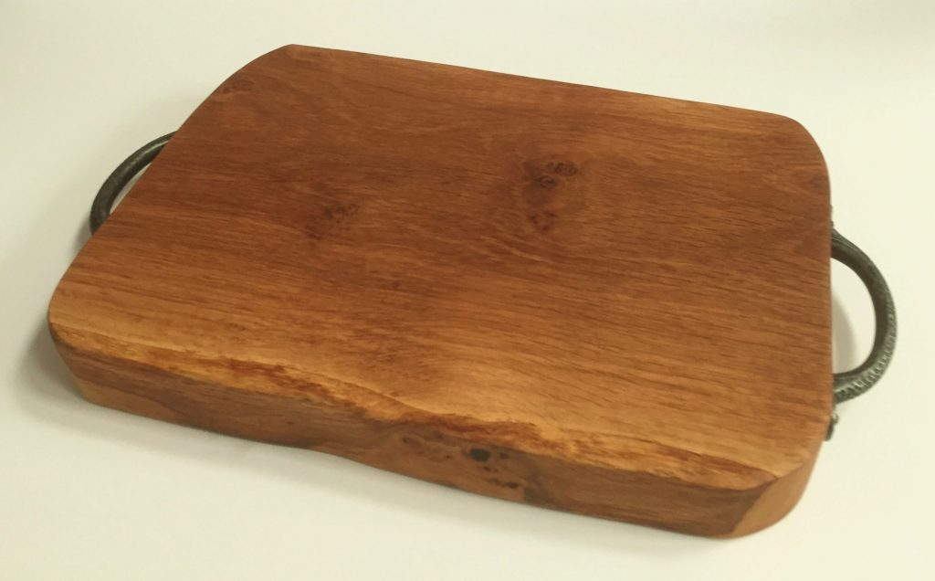 Solid English Oak Board with Handles