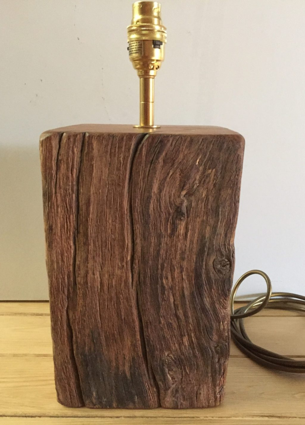 Rustic Oak Table Lamps