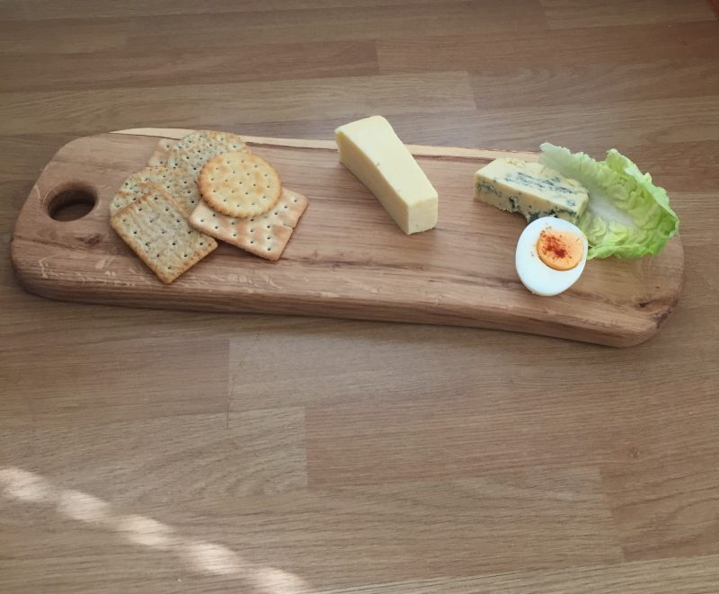 Oak Board with spalting with display