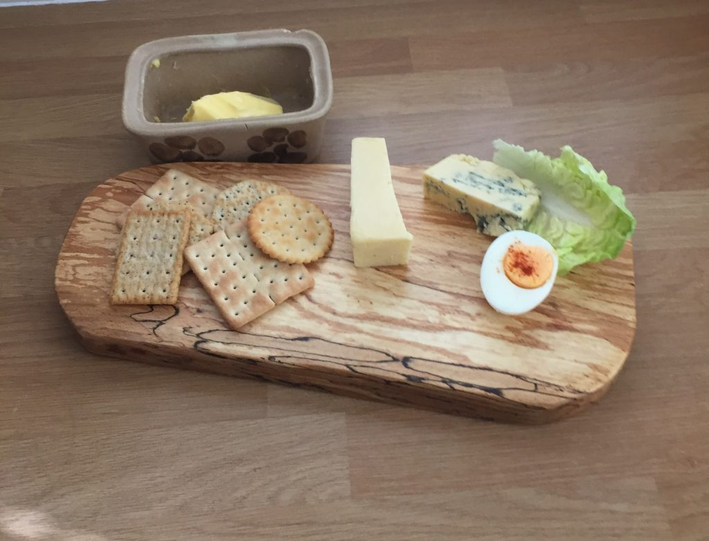 Light Spalted Beech Serving Platter